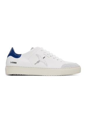 Axel Arigato White and Blue Clean 90 Triple Bird Sneakers
