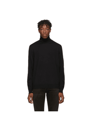 Balenciaga Black and Red Fine Wool Turtleneck