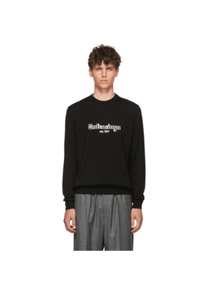 Balenciaga Black Wool Est. 1917 Sweater