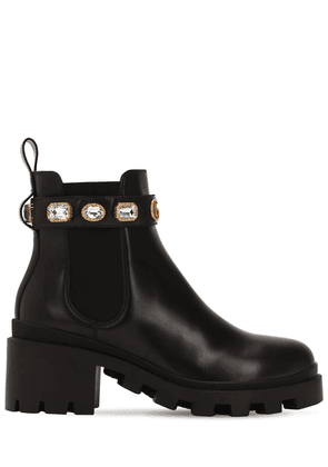 40mm Embellished Leather Boots