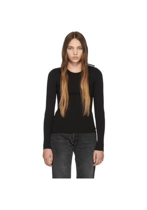 Balenciaga Black Ribbed Crewneck Sweater