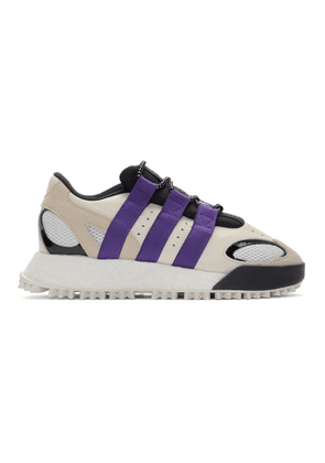 adidas Originals by Alexander Wang White and Purple Wangbody Run Sneakers