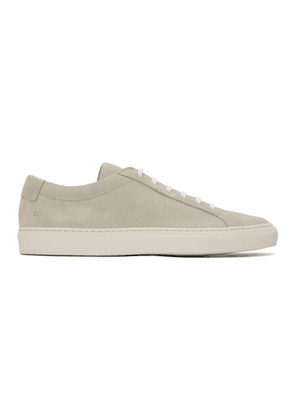 Common Projects Off-White Suede Achilles Sneakers