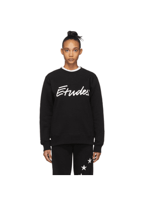 Etudes SSENSE Exclusive Black Signature Sweatshirt