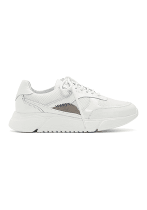 Axel Arigato White and Beige Genesis Sneakers