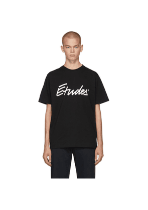 Etudes Black Signature Logo Wonder T-Shirt