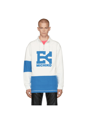 Eytys Off-White and Blue Gamma Pullover