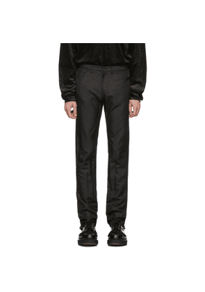Comme des Garcons Homme Plus Black Twill Treated Trousers
