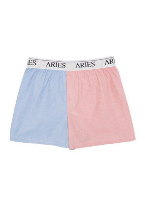 Aries Blue and Red Colorblock Boxers