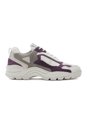 Filling Pieces White and Purple Low Curve Iceman Sneakers