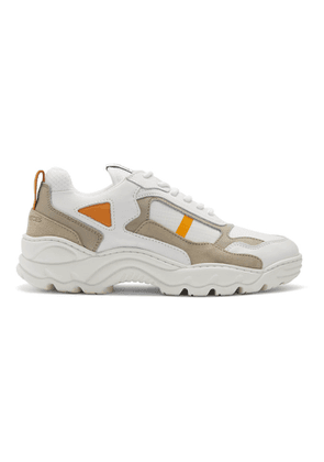 Filling Pieces Orange and White Low Curve Iceman Sneakers