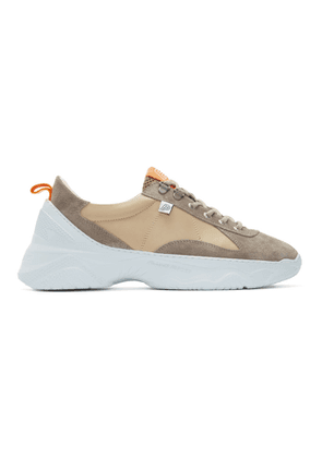 Filling Pieces Beige and Grey Low Meno Shuttle Sneakers
