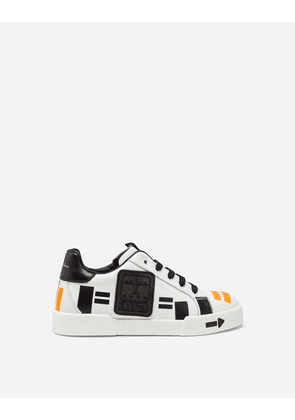 Dolce & Gabbana Shoes (24-38) - PORTOFINO LIGHT SNEAKERS WITH PATCH WHITE