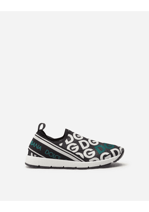 Dolce & Gabbana Shoes (24-38) - SORRENTO SNEAKERS WITH DG LOGO PRINT MULTI-COLORED
