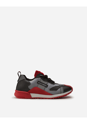 Dolce & Gabbana Shoes (24-38) - NS1 SNEAKERS IN NYON WITH REFLECTIVE DETAILS BLACK/RED