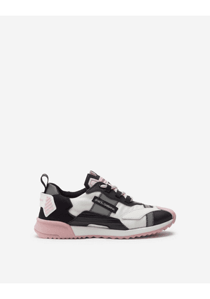 Dolce & Gabbana Shoes (24-38) - NS1 SNEAKERS IN NYLON WITH REFLECTIVE DETAILS GREY