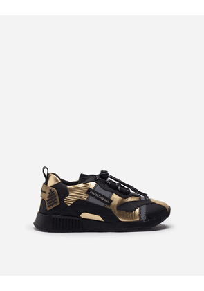 Dolce & Gabbana Shoes (24-38) - NS1 SNEAKERS IN LAMINATED NYLON ORO/NERO