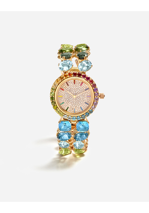 Dolce & Gabbana Watches - WATCH WITH MULTI-COLORED GEMS GOLD