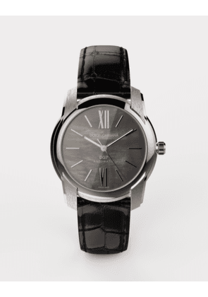 Dolce & Gabbana Watches - DG7 WATCH IN STEEL WITH BLACK MOTHER OF PEARL BLACK
