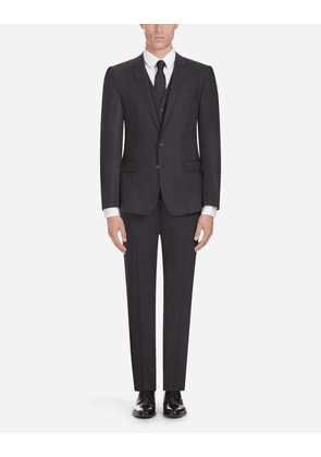 Dolce & Gabbana Suits - STRETCH WOOL SUIT GREY
