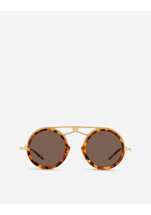 Dolce & Gabbana Sunglasses - DG FATTO A MANO SUNGLASSES GOLD AND HAVANA