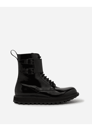 Dolce & Gabbana Boots - POLISHED CALFSKIN BOOTS WITH EXTRA LIGHTWEIGHT BOTTOM BLACK