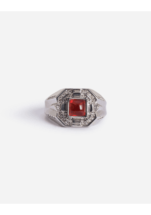 Dolce & Gabbana Bijoux - METAL RING WITH RHINESTONES RED