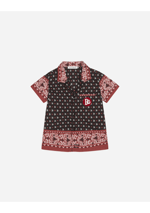 Dolce & Gabbana Collection - POPLIN SHIRT WITH BANDANA PRINT RED