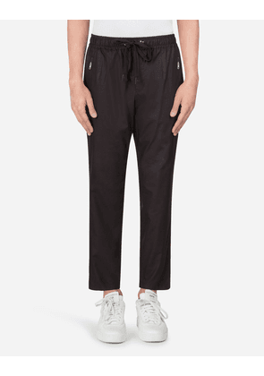 Dolce & Gabbana Collection - COTTON JOGGING PANTS BLACK