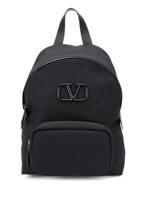Valentino Valentino Garavani VLOGO plaque backpack - Black