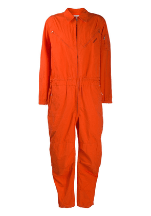 AMBUSH zip detail jumpsuit - ORANGE