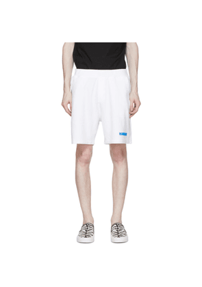 Dsquared2 White Jersey Logo Shorts