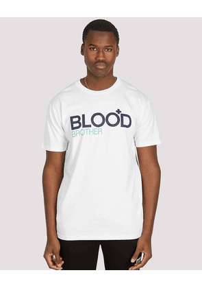 Blood Brother Trademark Printed T-Shirt White