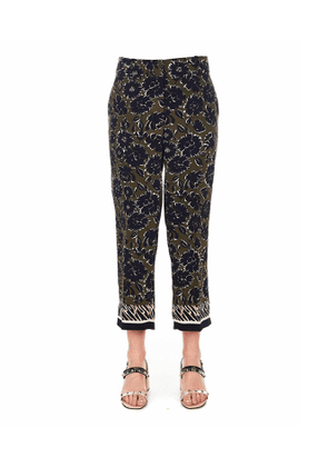 Wide-leg trousers with floral print 'Claire'