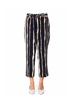 Wide-leg trousers with print 'Claire'