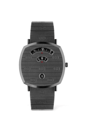 38mm Gucci Grip Gunmetal Colored Watch