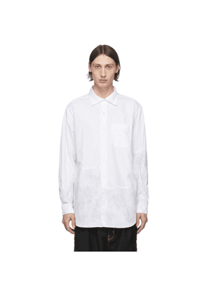 Engineered Garments White Broadcloth Floral Shirt