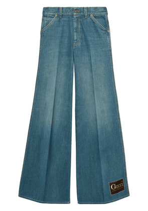 Gucci stonewashed flared jeans - Blue