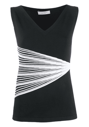 D.Exterior stretch knit tank top - Black