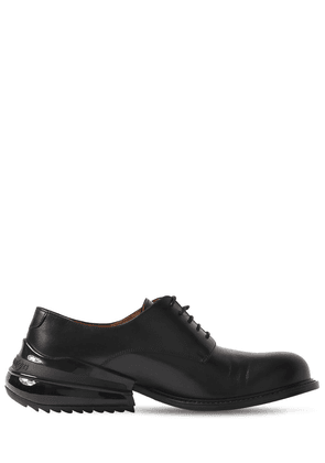 Airbag Heel Leather Lace-up Shoes