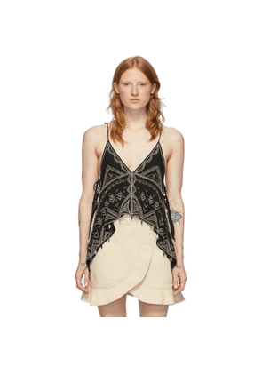Isabel Marant Black Silk Jocea Tank Top