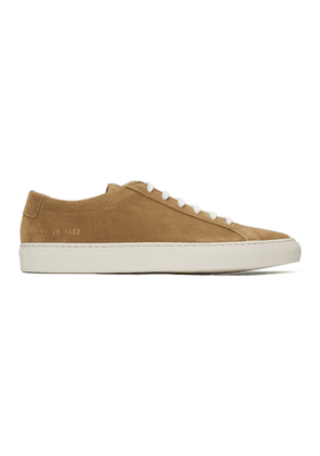 Common Projects Tan Suede Achilles Low Sneakers