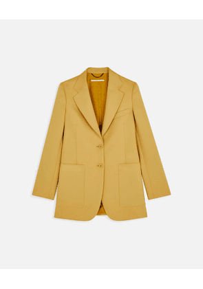 Stella McCartney Yellow Amanda Tailored Jacket, Women's, Size 6