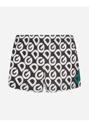Dolce & Gabbana Underwear Collection - JERSEY BOXERS WITH DG LOGO PRINT MULTICOLOR