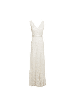 Catherine Deane Satin-trimmed Embellished Tulle Gown Woman Ivory Size 8