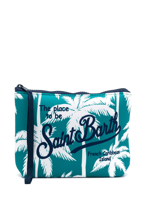Mc2 Saint Barth tropical print scuba pochette - White