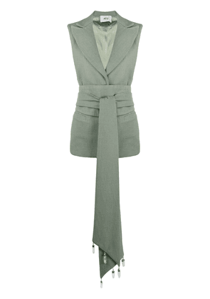 Atu Body Couture belted tailored waistcoat - Green