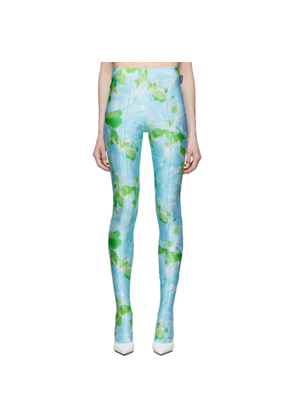 Balenciaga Blue and Green Dynasty Leggings