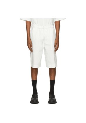3.1 Phillip Lim Off-White Poplin Washed Shorts