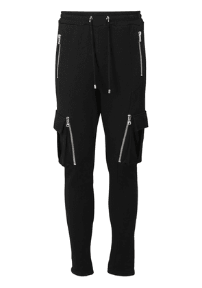 Flocked Logo Cotton Sweatpants W/ Zips
